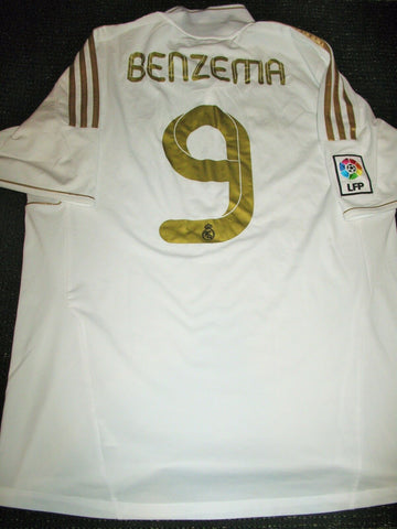 Benzema Real Madrid 2011 2012 Jersey Maillot Camiseta XL - foreversoccerjerseys