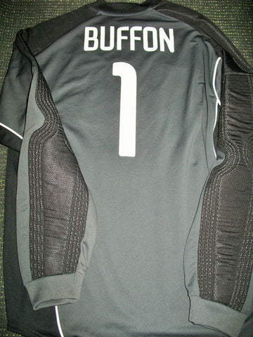 Buffon Juventus 2003 2004 MATCH WORN FRIENDLY Black Jersey Shirt Maglia Indossata - foreversoccerjerseys