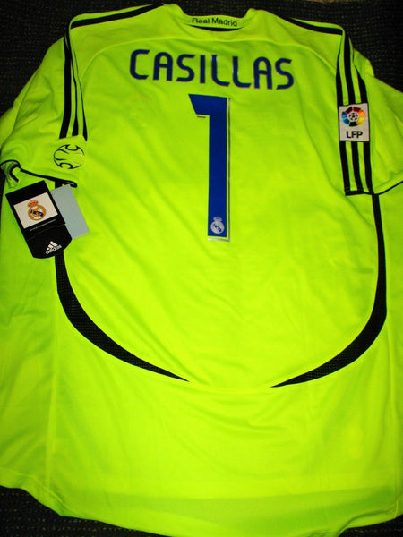 Casillas Real Madrid 2006 2007 Jersey Shirt Camiseta BNWT XL - foreversoccerjerseys