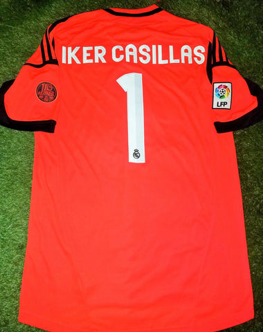 Casillas Real Madrid 2012 2013 110 years Anniversary Jersey Shirt Camiseta L foreversoccerjerseys