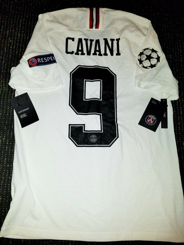 Cavani Psg Paris Saint Germain JORDAN VAPORKNIT PLAYER ISSUE 2018 2019 Jersey M BNWT! - foreversoccerjerseys