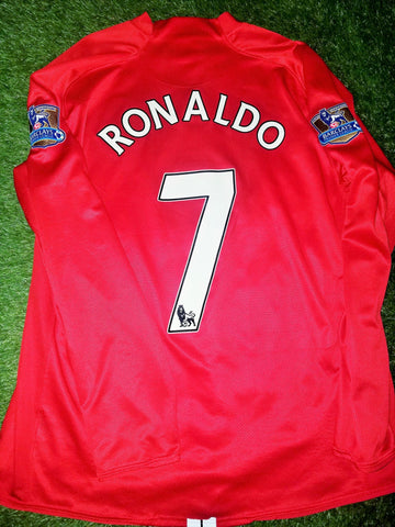 Cristiano Ronaldo Manchester United 2007 2008 Long Sleeve Jersey Shirt XL 237925-666 foreversoccerjerseys