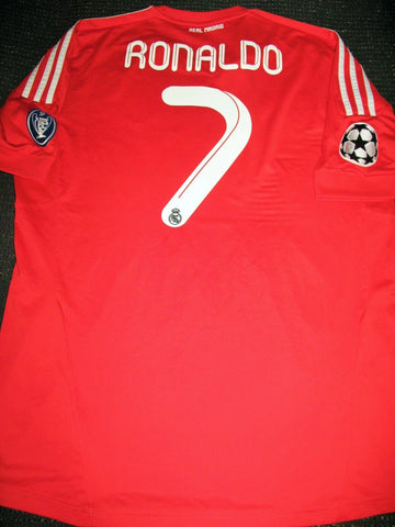Cristiano Ronaldo Real Madrid 2011 2012 UEFA Red Jersey Shirt XL - foreversoccerjerseys
