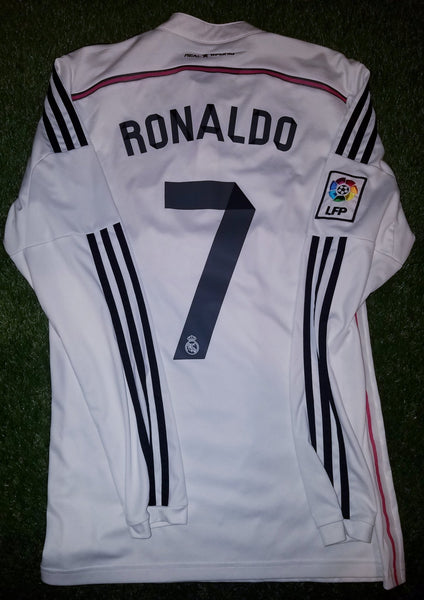 Cristiano Ronaldo Real Madrid 2014 2015 Long Sleeve Jersey Shirt M F49660 foreversoccerjerseys