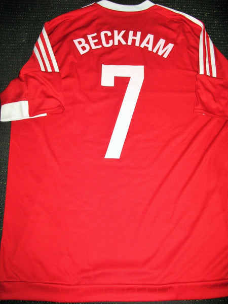 David Beckham MATCH FOR CHILDREN 2015 MATCH ISSUE Jersey Shirt - foreversoccerjerseys