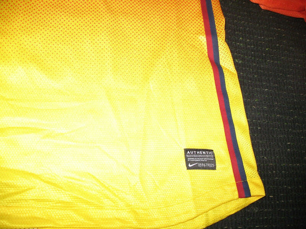 David Villa Barcelona Match Worn Yellow 2012 2013 Jersey Camiseta Shirt M - foreversoccerjerseys