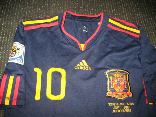Fabregas Spain 2010 WC FINAL Jersey Shirt Camiseta M - foreversoccerjerseys