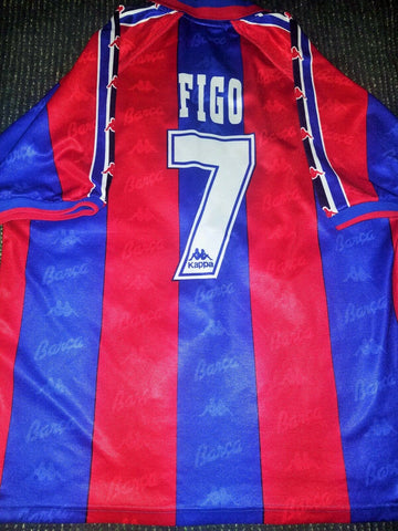Figo Kappa Barcelona PLAYER ISSUE 1996 1997 Jersey Shirt Camiseta XL - foreversoccerjerseys