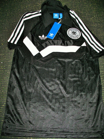 Germany Adidas Originals 1990 World Cup Black Jersey Deutschland Trikot Shirt S BNWT - foreversoccerjerseys