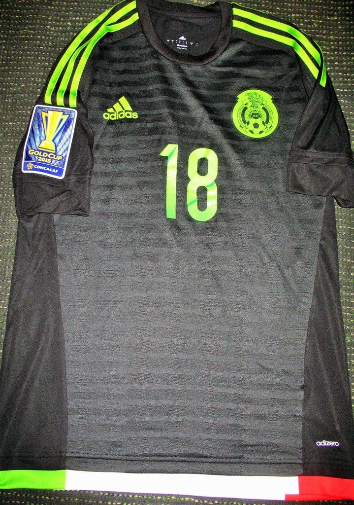 Guardado Mexico 2015 GOLD CUP MATCH WORN ADIZERO Jersey Camiseta Shirt M - foreversoccerjerseys