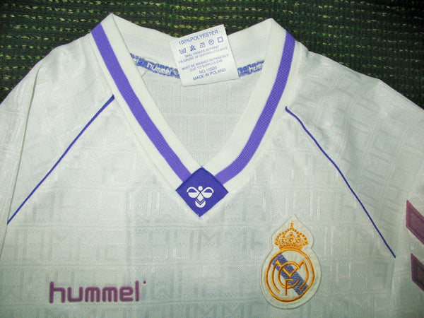 Hugo Sanchez Real Madrid Hummel 1990 1991 1992 Jersey Camiseta Shirt XL - foreversoccerjerseys
