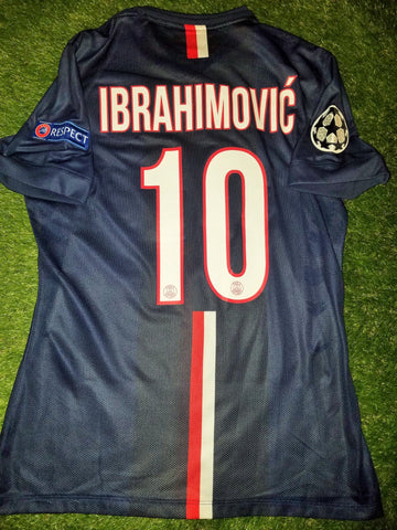 Ibrahimovic PSG Paris Saint Germain UEFA MATCH ISSUED Jersey Shirt Maillot L foreversoccerjerseys