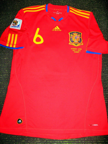 Iniesta Spain 2010 WC SEMI FINAL Jersey Espana Camiseta Shirt M - foreversoccerjerseys