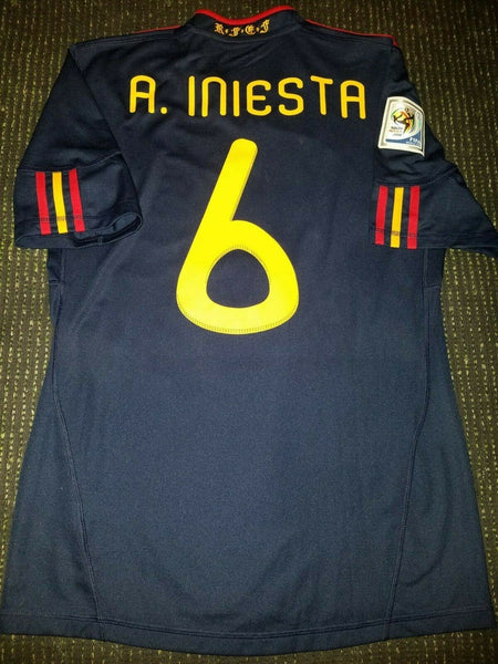 Iniesta Spain 2010 World Cup Final Jersey Camiseta Shirt S - foreversoccerjerseys