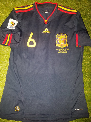 Iniesta Spain 2010 WORLD CUP Final Navy Jersey Espana Camiseta Shirt M foreversoccerjerseys