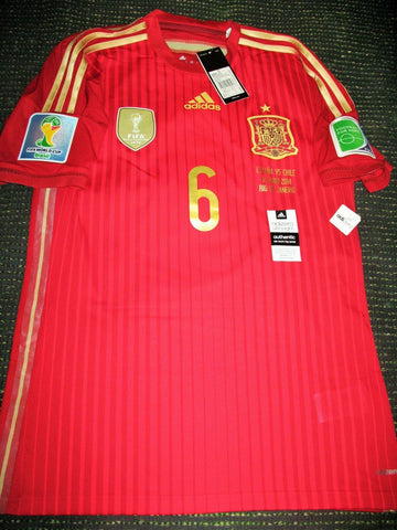 Iniesta Spain 2014 WORLD CUP Adizero Player Issue Jersey Shirt BNWT M - foreversoccerjerseys
