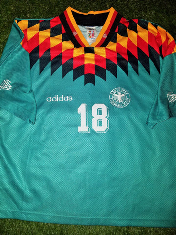 Klinsmann Germany 1994 Green Jersey Shirt Deutschland Trikot XL foreversoccerjerseys