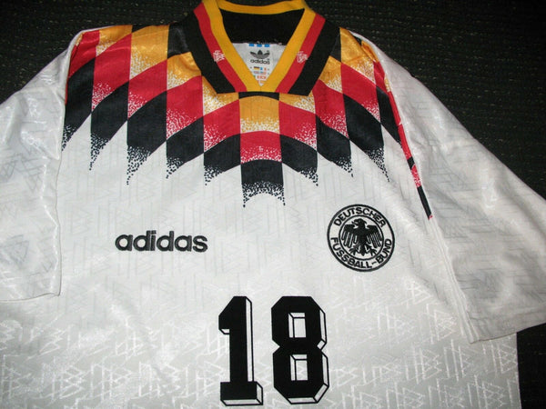 Klinsmann Germany 1994 World Cup Jersey Deutschland Trikot Shirt  M - foreversoccerjerseys