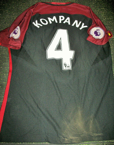 Kompany Manchester City MATCH WORN 2016 2017 Black Jersey Shirt Trikot XL - foreversoccerjerseys
