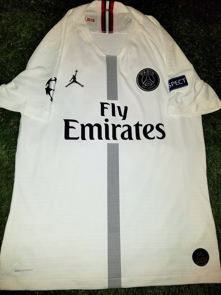 Mbappe Psg Paris Saint Germain JORDAN VAPORKNIT PLAYER ISSUE 2018 2019 White Jersey SKU# 918923-102 M foreversoccerjerseys