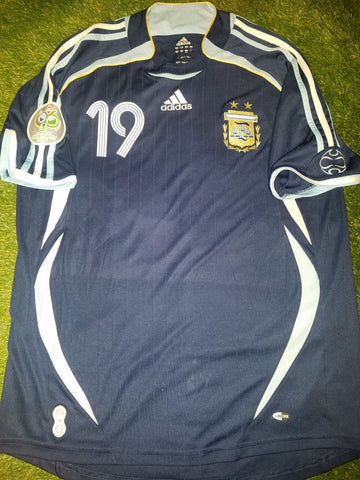 Messi Argentina 2006 WORLD CUP Blue Jersey Shirt Camiseta L foreversoccerjerseys