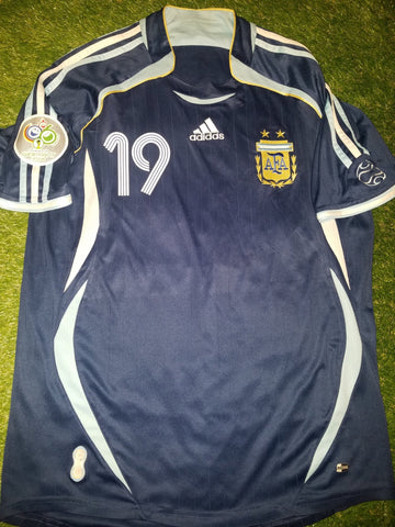 Messi Argentina 2006 WORLD CUP Blue Jersey Shirt Camiseta M foreversoccerjerseys