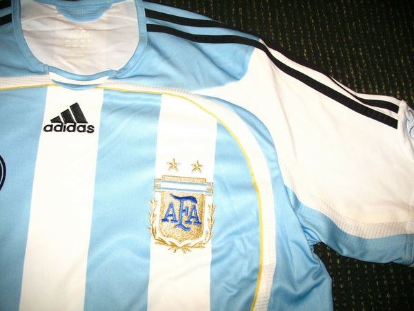 Messi Argentina 2006 World Cup PLAYER ISSUE FORMOTION Jersey Camiseta L - foreversoccerjerseys