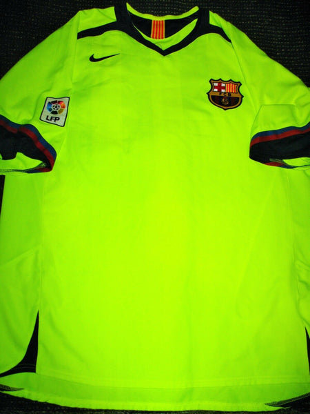 Messi Barcelona 2005 2006 Yellow Jersey Shirt Camiseta Maglia XL - foreversoccerjerseys