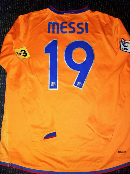 Messi Barcelona 2007 2008 Long Sleeve Jersey Shirt Camiseta Maglia Argentina L - foreversoccerjerseys