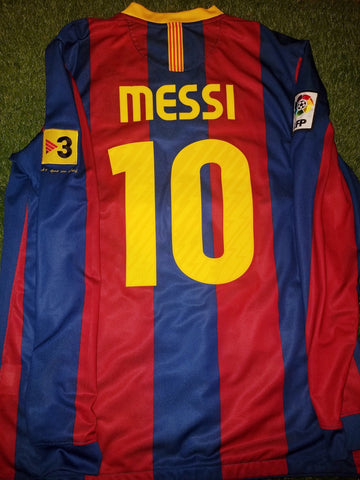 Messi Barcelona 2010 2011 Long Sleeve Jersey Shirt Camiseta L 382355-486 foreversoccerjerseys