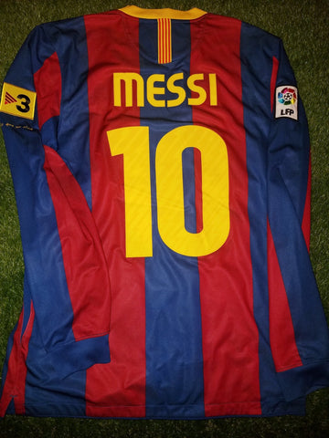 Messi Barcelona 2010 2011 Long Sleeve Jersey Shirt Camiseta M 382355-486 foreversoccerjerseys