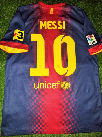 Messi Barcelona 2012 2013 Jersey Shirt Camiseta Maglia M foreversoccerjerseys
