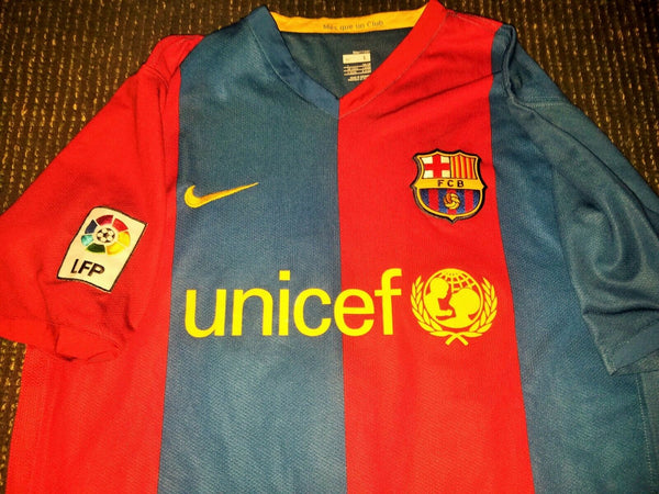 Messi Barcelona Jersey 2006 2007 Shirt Camiseta Maglia L - foreversoccerjerseys