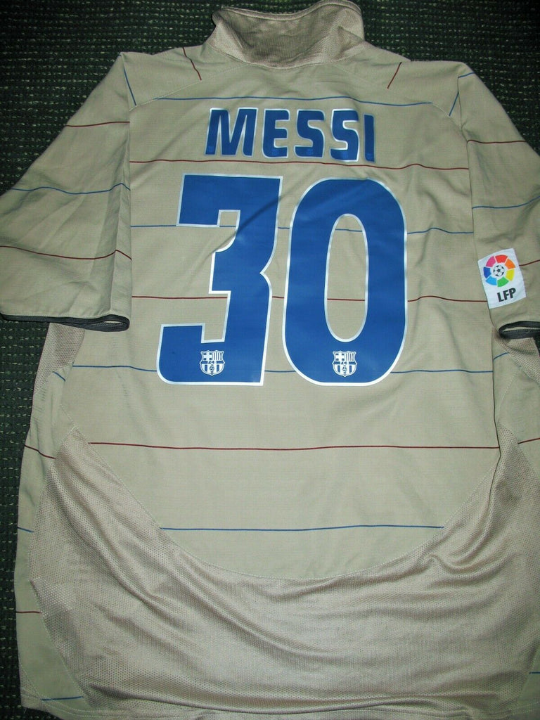 Messi Barcelona Jersey DEBUT 2004 2005 Shirt Camiseta Maglia XL - foreversoccerjerseys