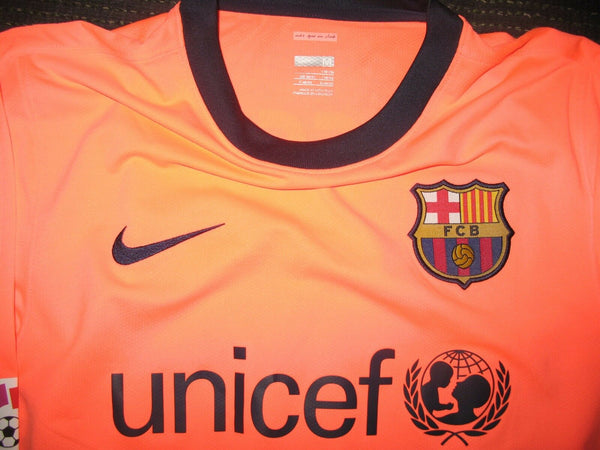 Messi Barcelona PLAYER ISSUE Jersey 2009 2010 Shirt Camiseta Trikot Maglia - foreversoccerjerseys