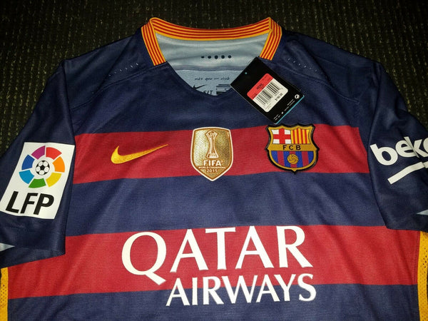Messi Barcelona Player Issue Jersey 2015 2016 Shirt Camiseta BNWT L - foreversoccerjerseys