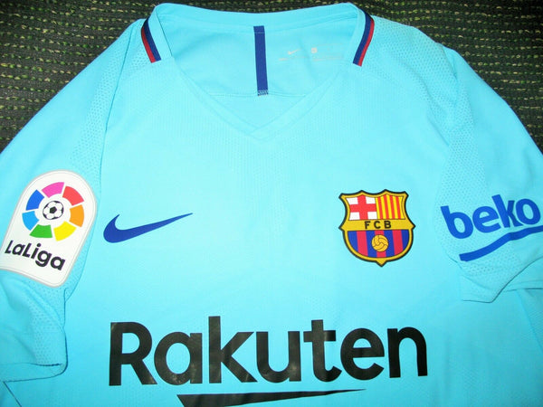 Messi Barcelona Player Issue Vapor Jersey 2017 2018 Shirt BNWT L - foreversoccerjerseys