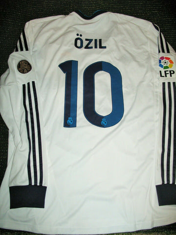 Ozil Real Madrid 2012 2013 Long Sleeve Jersey Camiseta Shirt Trikot XL - foreversoccerjerseys