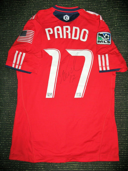 Pardo Chicago Fire MATCH WORN AUTOGRAPH 2011 2012 Jersey Camiseta - foreversoccerjerseys