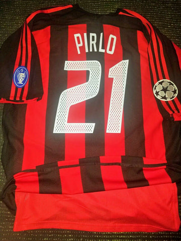 Pirlo AC Milan 2003 2004 UEFA MATCH ISSUED Jersey Shirt Maglia L - foreversoccerjerseys