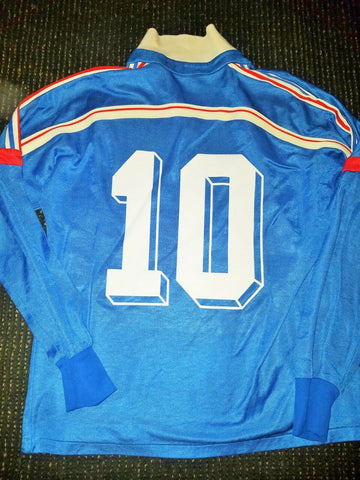 Platini France Adidas Ventex 1986 WORLD CUP Jersey Maillot Shirt M - foreversoccerjerseys