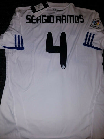 Ramos Real Madrid 2010 2011 Jersey Camiseta Shirt XL BNWT - foreversoccerjerseys