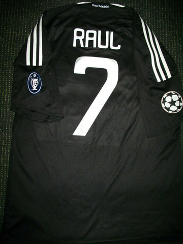 Raul Real Madrid 2008 2009 UEFA Jersey Shirt Camiseta Maglia L - foreversoccerjerseys