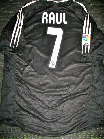 Raul Real Madrid Black 2004 2005 Jersey Camiseta Trikot Shirt L - foreversoccerjerseys
