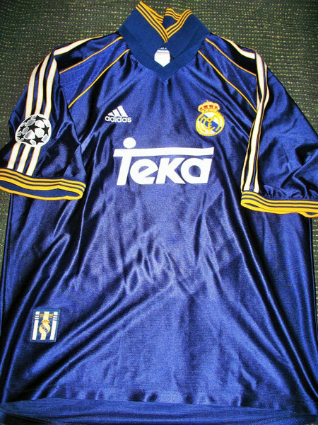Raul Real Madrid Jersey 1998 1999 UEFA Shirt Camiseta Maglia L - foreversoccerjerseys