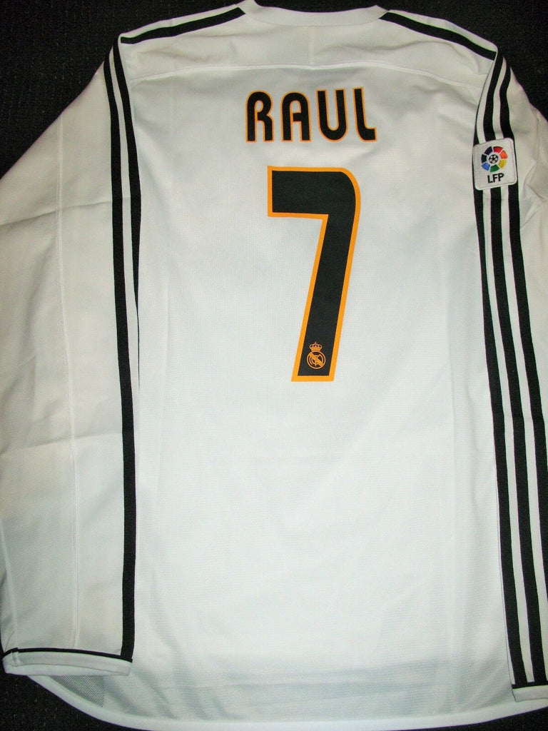 Raul Real Madrid Player Issue 2003 2004 Long Sleeve Jersey Camiseta Shirt - foreversoccerjerseys