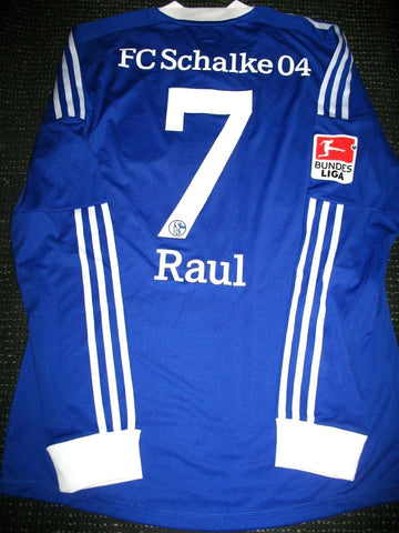 Raul Schalke 04 2011 2012 LAST MATCH PLAYER ISSUE Jersey Shirt Camiseta L