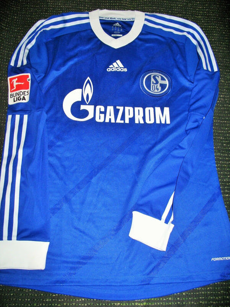 Raul Schalke 04 2011 2012 LAST MATCH PLAYER ISSUE Jersey Shirt Camiseta L - foreversoccerjerseys