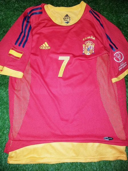 Raul Spain 2002 WORLD CUP PLAYER ISSUE Jersey Shirt Camiseta Espana L foreversoccerjerseys
