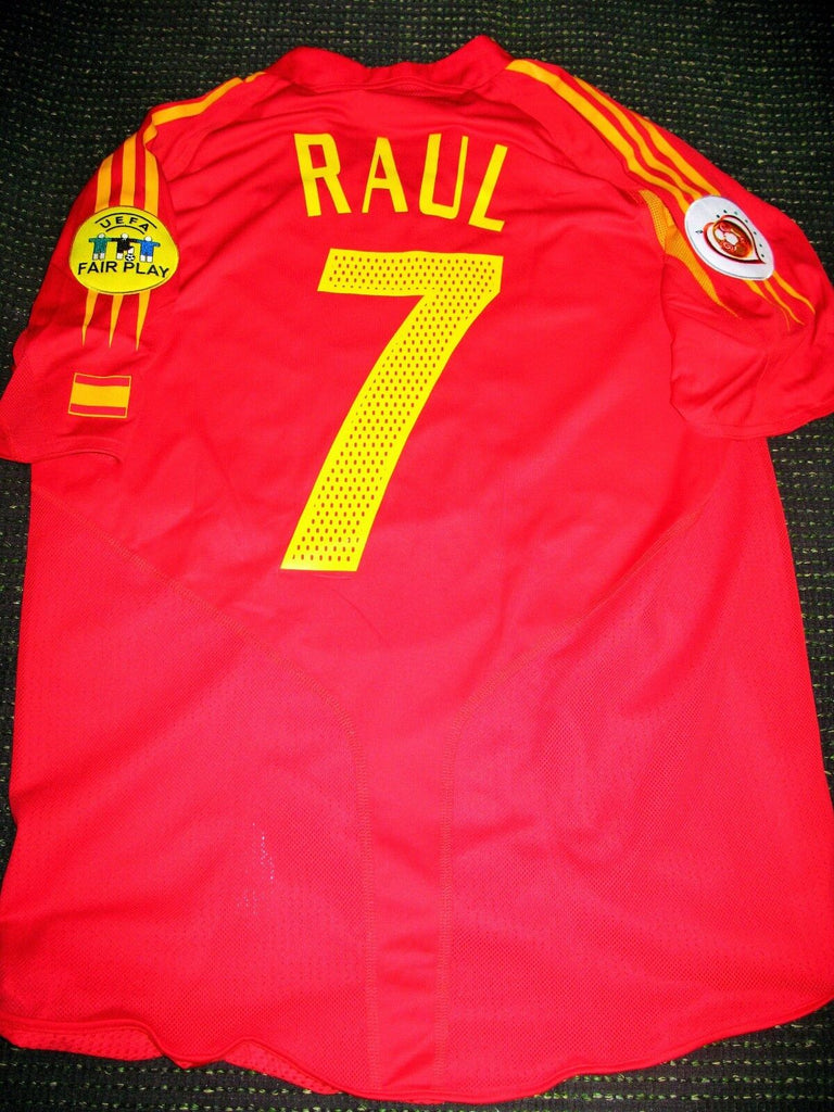 Raul Spain PLAYER ISSUE 2004 EURO Jersey Camiseta Espana Shirt Trikot L - foreversoccerjerseys